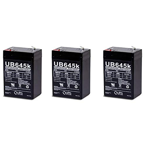 Universal Power Group 6V 4.5AH SLA Replacement Battery for Yuntong YT-645-3 Pack