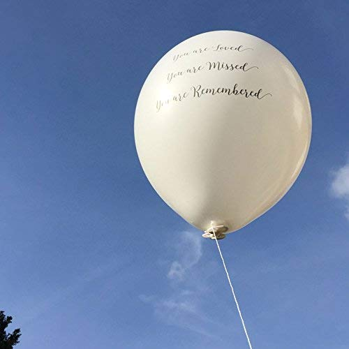 Amazon 25 White You Are Loved Missed Remembered Biodegradable Funeral Remembrance Balloons