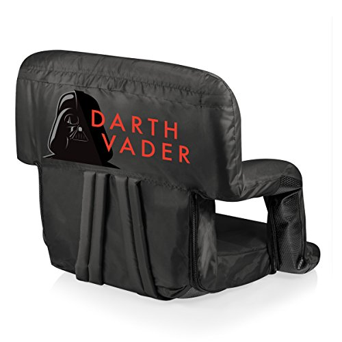 ONIVA - a Picnic Time brand Lucas/Star Wars Darth Vader Ventura Portable Reclining Stadium Seat, Black by ONIVA - a Picnic Time brand
