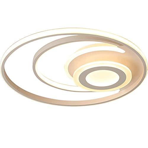 (MAOFALZZNA LED Ceiling Lamp Nordic Creative Vortex Home Simple Bedroom Living Room Slim Light,dimming,63cmx8cm [Energy Class A],43cm8cm)