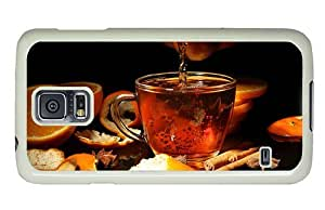 Hipster Samsung Galaxy S5 Case poetic covers Orange Tea PC White for Samsung S5