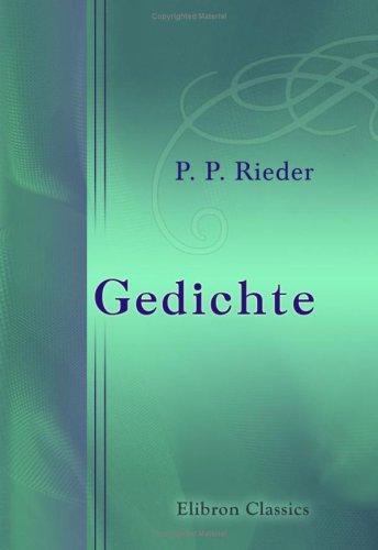 Gedichte (German Edition) pdf
