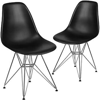 Amazon Com Flash Furniture 2 Pk Elon Series Black