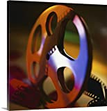 admit one ticket wall art - Canvas on Demand Premium Thick-Wrap Canvas Wall Art Print entitled Film reel with movie ticket 36
