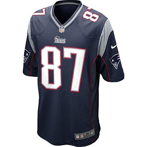 Nike NFL New England Patriots Rob Gronkowski American Football Game Trikot in blau Gr. XX-Large, marineblau