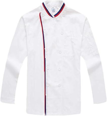 WYCDA Camisa de Cocinero Moda Transpirable Uniforme Cocina ...