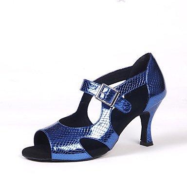 Danza Plata Zapatos Rojo de Gold Oro baile latina Negro Azul Salsa 11wZ0xqp