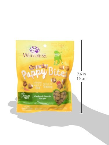 Wellness-Crunchy-Puppy-Bites-Natural-Grain-Free-Puppy-Training-Treats-Chicken-Carrots-6-Ounce-Bag