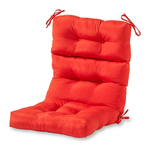 greendale home fashions high back chair cushion salsa