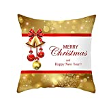 """Christmas Party Pillow Cases Glitter Sequins Home Decor Xmas Gifts Letter Throw Pillow Cover Comfy Pillowcase, 18"""" x 18"""""""