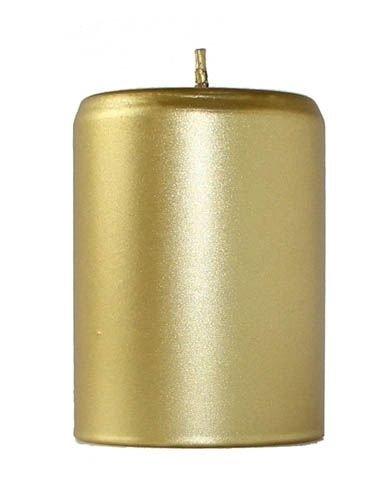 Kahla Sicilia - Candela cilindrica, 7 x 10 cm, Colore: Oro Opaco KAHEKU