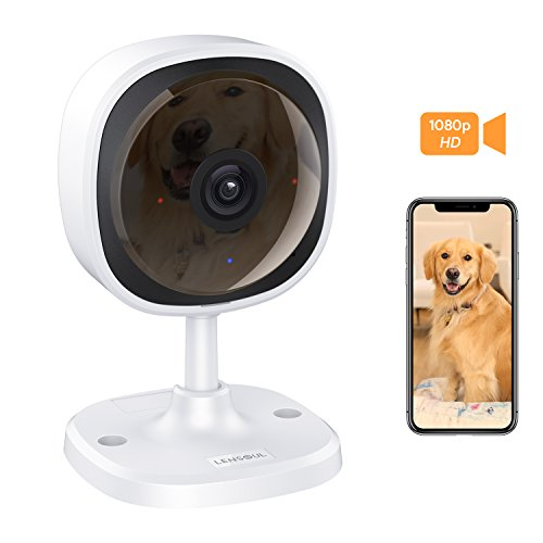 Security Camera, Lensoul 1080P HD Wireless IP Camera Built in Two-Way Audio, Motion Detection, 2.4GHz Security Surveillance CCTV Camera Night Vision-Cloud Service Available (Upgraded)