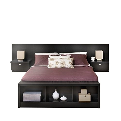 Amazon Prepac Series 9 Platform Storage Bed with Floating