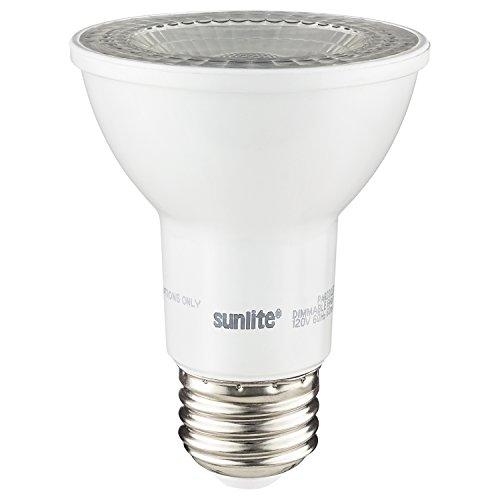 60w Spotlight (Sunlite PAR20/LED/6W/FL38/D/E/27K LED PAR20 6W (60W Replacement) Reflector Spotlight Light Bulbs, Medium (E26) Base, 2700K Warm White)