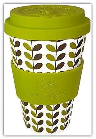 Leaves Von Happy Earth Wiederverwendbare Oko Kaffeetasse 450ml Mit