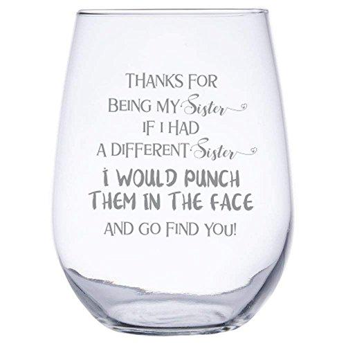 sister wine glass - 1