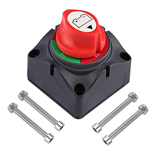 (RV Battery Disconnect Switch, Sdootauto 12V/24V Waterproof Battery Isolator Switch Master Isolator Heavy Duty Battery Disconnect Power Cut Off Switch for Marine Boat Car RV Vehicle)