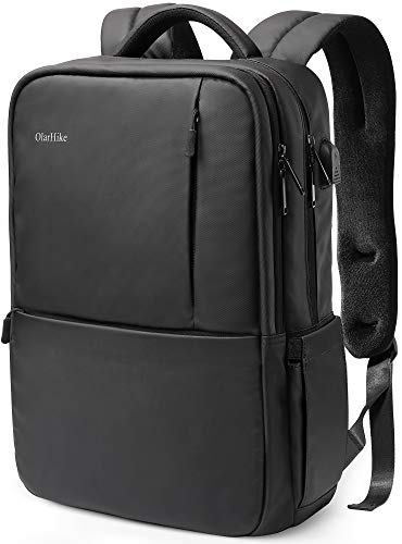 OlarHike Laptop Backpack with USB Charging Port and Thick Padded Sleeve Water Resistant College School Computer Backpack Fits up 15.6 Inch Laptop for Men Women