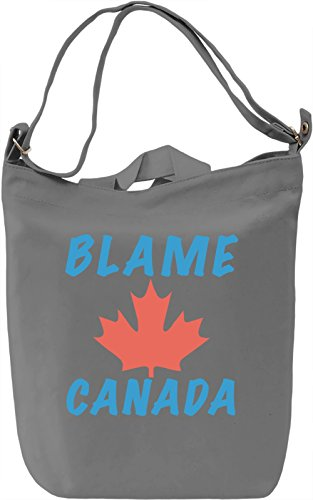 Blame Canada Borsa Giornaliera Canvas Canvas Day Bag| 100% Premium Cotton Canvas| DTG Printing|