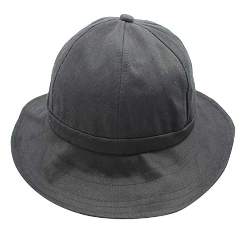 - ☀️☀️2019 Womens Mens Cotton Embroidered Unisex Fisherman's Hat Adjustable Hats Gifts (Black)