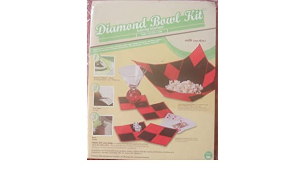 Amazon.com: Dritz Diamond Bowl Kit with Coasters (An Innerfuse Kit): Arts, Crafts & Sewing