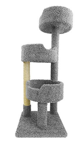 Wood Condo Cat (New Cat Condos Deluxe Kitty Pad, Gray)