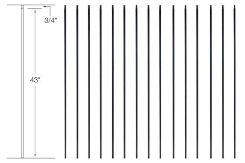 Iron Balusters - Standard Plain - Hollow - 44
