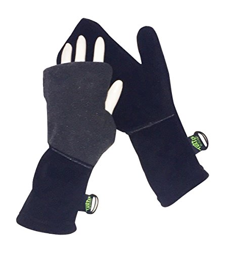 Turtle Gloves Heavyweight Convertible Running Mittens Provides Weather Protection ()