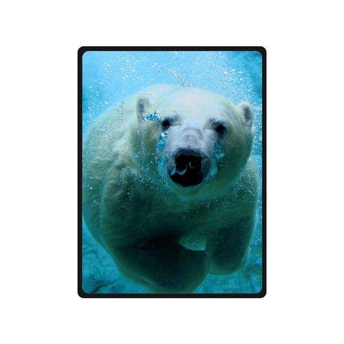 Artsbaba Blanket Polar Bear Blanket Winter Super Soft Throw Blanket Travel Fleece Blanket Queen Size 58