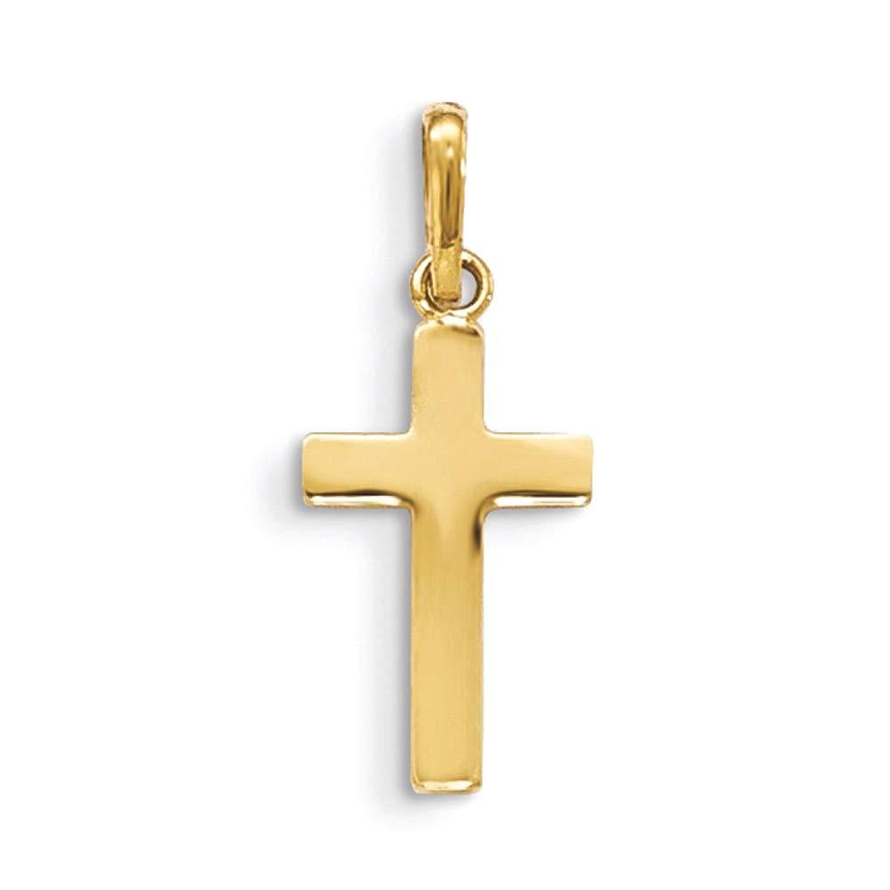 Lex /& Lu 14k Yellow Gold Childrens Cross Pendant