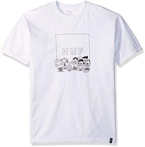 Huf T-shirts - Huf Peanuts Gang Box Logo T-Shirt - White