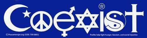 Coexist Magnetic Bumper Sticker