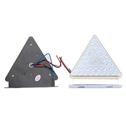 lot de 2 Hehemm universel Triangle davertissement arri/ère /étanche LED Signal lampe 24/V