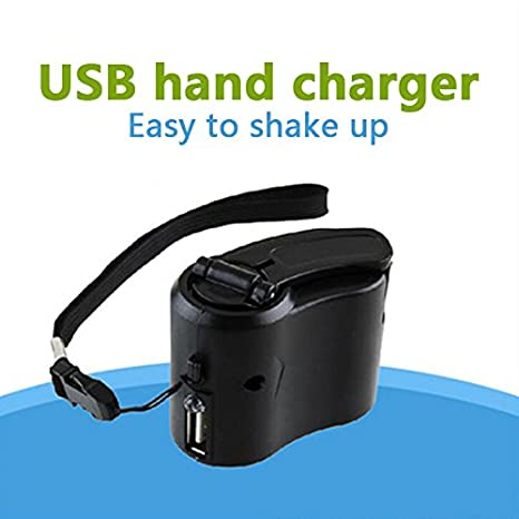 Cewaal Hanbaili Mini Portable de la Mano del Dínamo USB ...