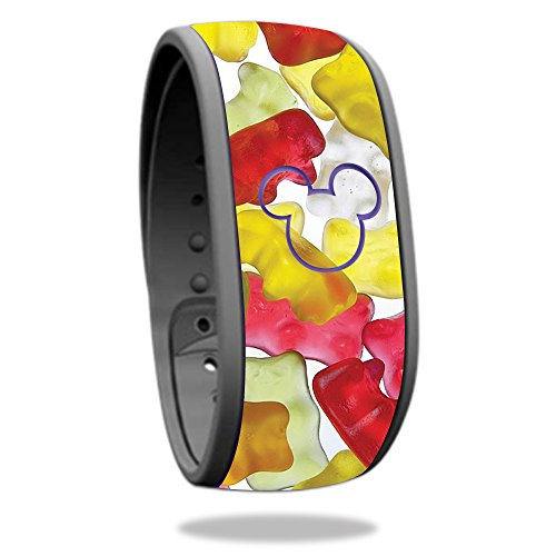 MightySkins Skin For Disney MagicBand - Gummy Bears | Protective, Durable, and Unique Vinyl Decal wrap cover | Easy To Apply, Remove, and Change Styles | Made in the ()