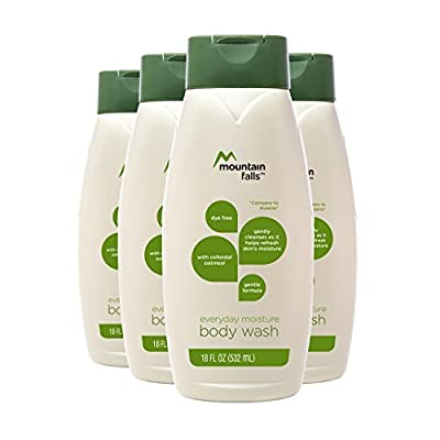 Mountain Falls Everyday Moisture Body Wash, 18 Fluid Ounce (Pack of 4)