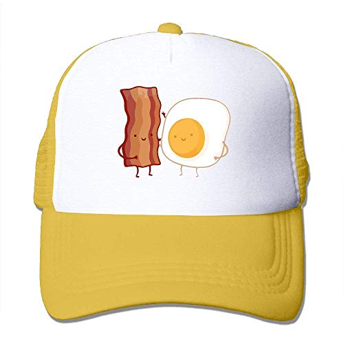 Bacon and The Egg are The Best Friends Fashion Mesh Trucker Hat Adjustable Baseball Cap Yellow ()