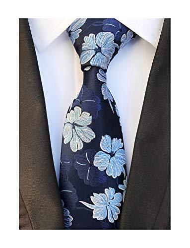 - Men's Navy Blue Silk Ties Banquet Cool Beautiful Neckties Gift Ideal for Husband