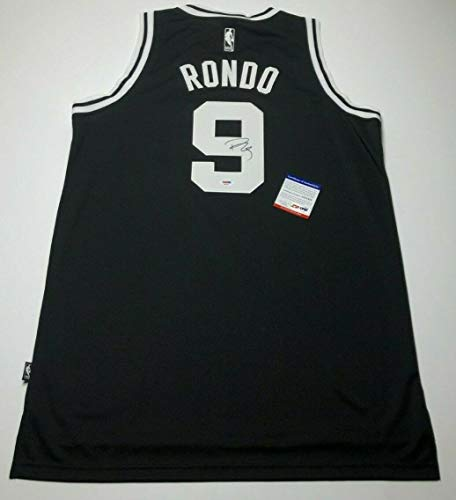 (Rajon Rondo Autographed Signed Memorabilia Black Boston Celtics Basketball Jersey 08 Finals Champ PSA/DNA)