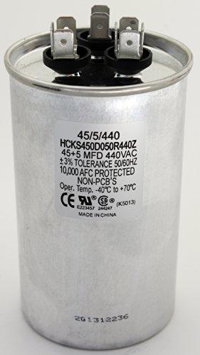 TradePro 45+5 MFD 440 Volt Round Capacitor TP-CAP-45/5/440R