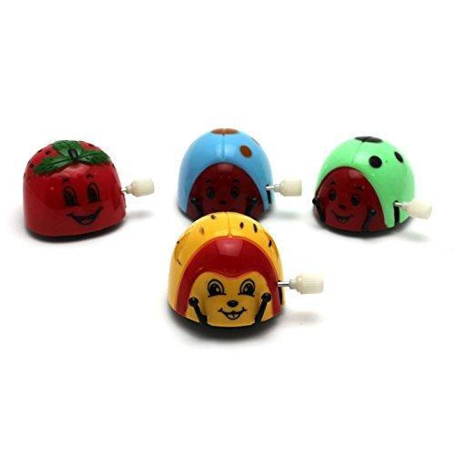 VIPASNAM-Kids Safe Somersault Beetle Running Educational Toy Clockwork Spring Wind Up Toy (Black Beetle Juice)