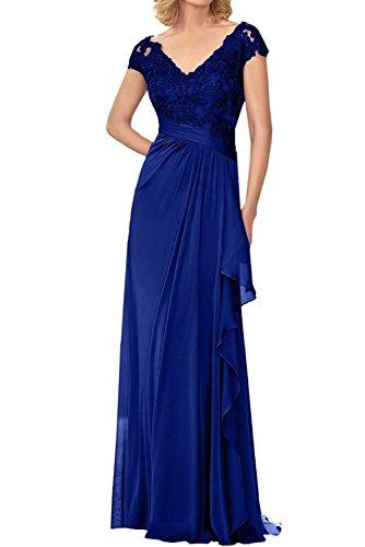 Lila Spitze Elegant Royal Kurzarm mia Brautmutterkleider Kleider Jugendweihe Abendkleider Abschlussballkleider Blau Lang La Braut 4qIZpWwcZt