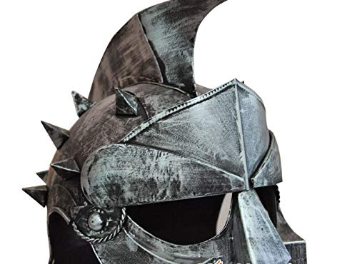 ZAMTAC Retro Medieval Armor Helmet Simulation Iron Cross Ornaments Creative Gifts Metal Crafts can be Mixed Batch