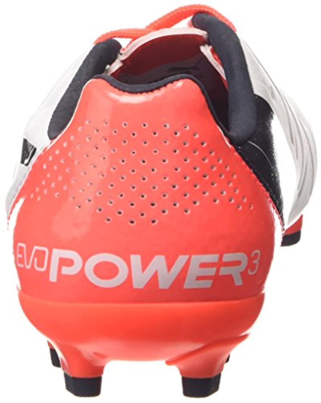 Puma Unisex Kids' evoPOWER 3.2 AG Jr Football boots (training) White Size: 1.5 UK