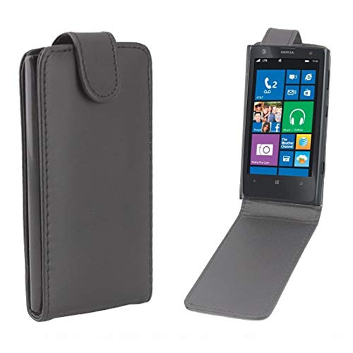 JIN PHONECASES Vertical Flip Magnetic Snap Leather Case for Nokia Lumia 1020(Black) (Color : Black) (Nokia Lumia 1020 Best Price)