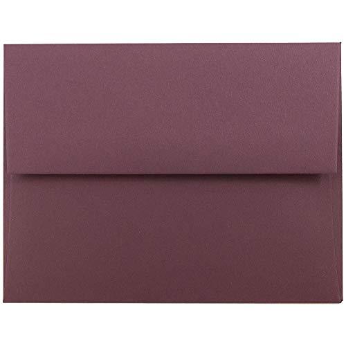 JAM PAPER A2 Premium Invitation Envelopes - 4 3/8 x 5 3/4 - Burgundy - 50/Pack