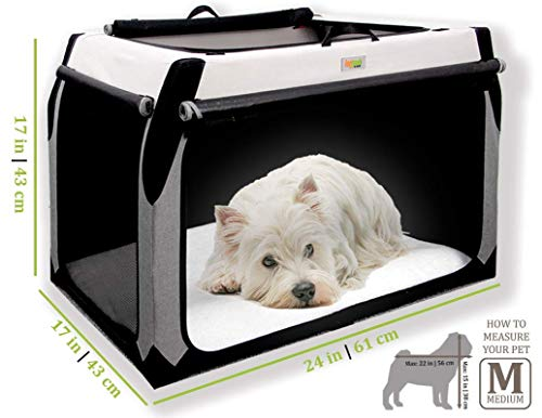 Folding Soft Dog Crate for Medium Dogs by DogGoods Indoor Outdoor Dog Kennels and Crates and Collapsible Dog Crate for Camping, Car, Roadtrips Extra Large Dogs, Large Dogs, Medium Dogs, Small Dogs
