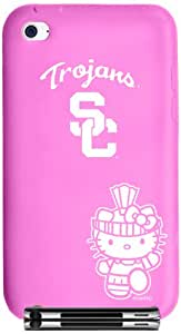 Tribeca Gear FVA7056 Tribeca Gear iPod Touch 4th Generation Silicone Case, Hello Kitty,  University of Southern California, Pink - 1 Pack - Carrying Case - Retail Packaging - Pink