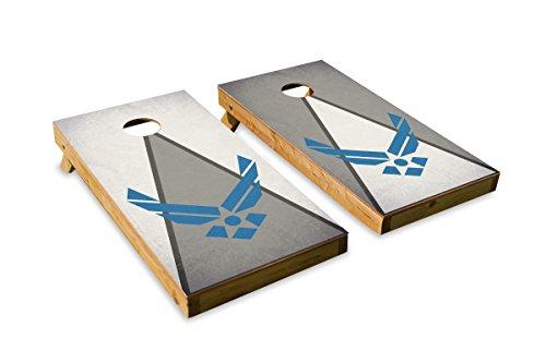 Crew Air Bag Force - Airforce - Military Service - Cornhole Crew - ACA Regulation Size Cornhole Board Set
