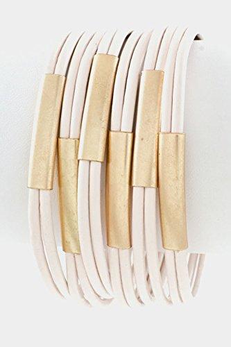 GlitZ Finery Cord Leather Bracelet (Pink)